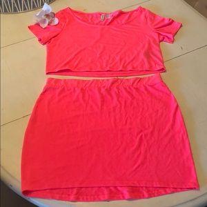 Crop Top & Mini Skirt Set